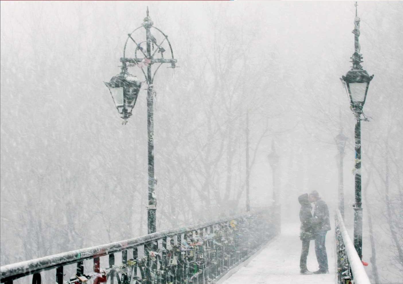 Фото снег и влюбл нные 4