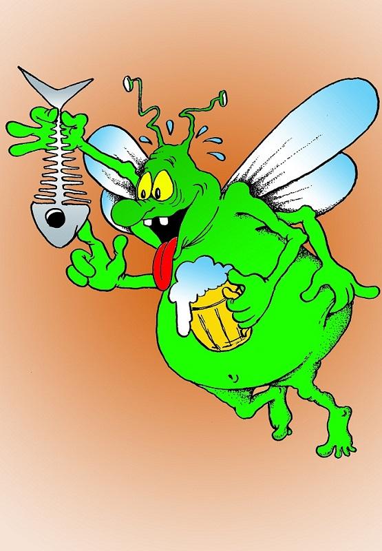 Картинка муха смешная