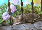 Кот и гортензия_mal