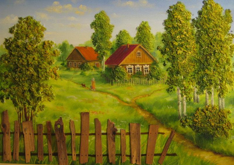 Картинки лето в деревне для детей