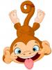 обезьяна дразнит