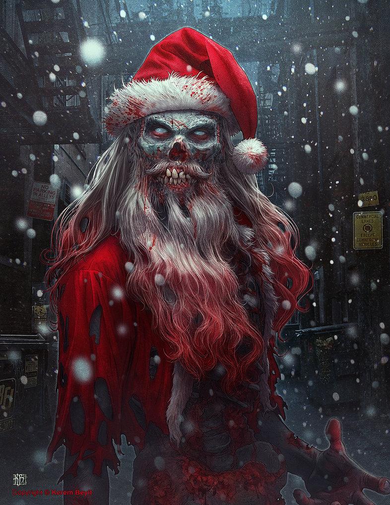Дед мороз картинки страшные