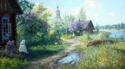 Деревня / картина В. Жданова /