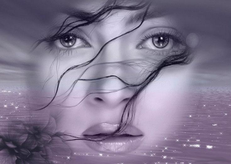 Гиф для, открытка женские глаза