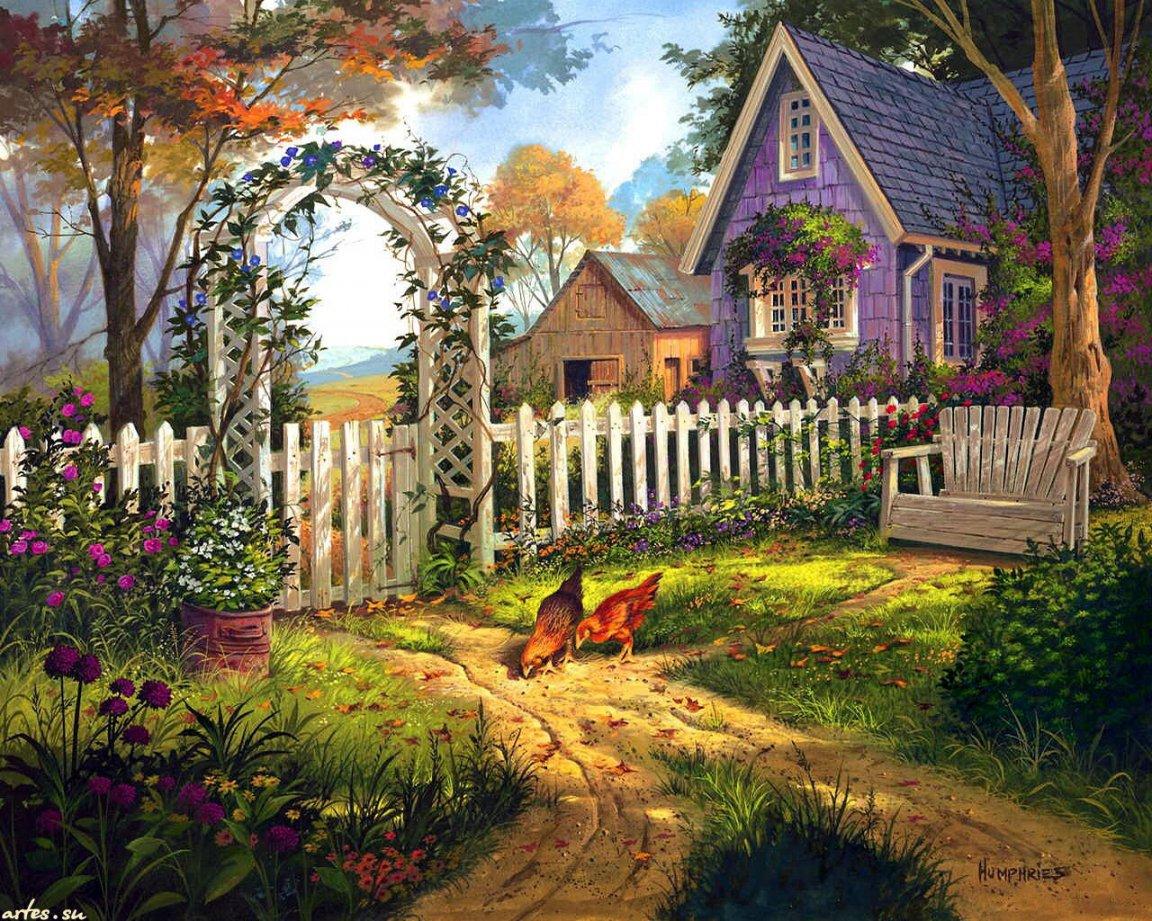 Открытку, красивые картинки с деревеньками