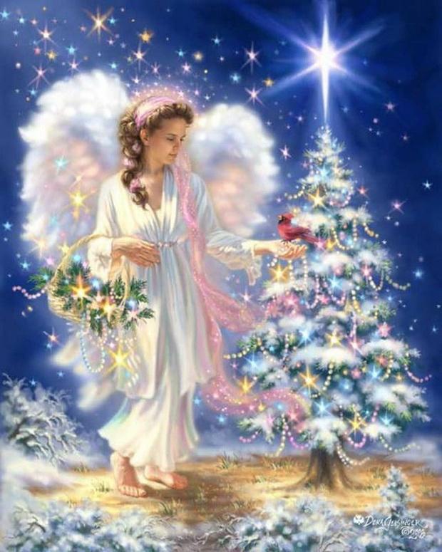 Надписью моя, открытки с рождественские ангелы