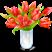 Ваза с розами Подарок от автора Юна Южная
