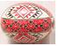 Яйцо крашеное красно-чёрное Подарок от автора Людмила Кузнецова