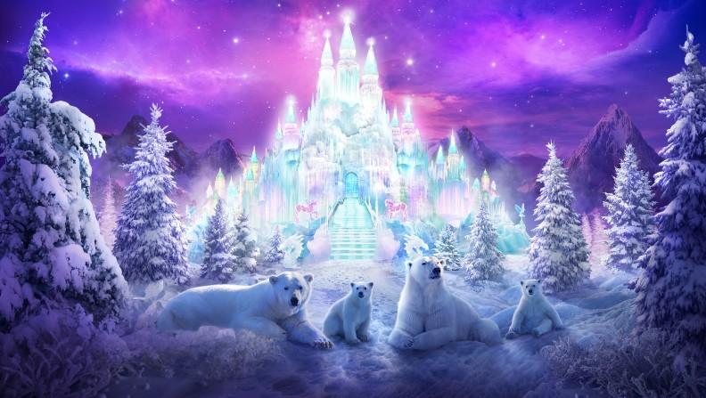 Открытка с новым годом сказка замок, днем рождения эвелина